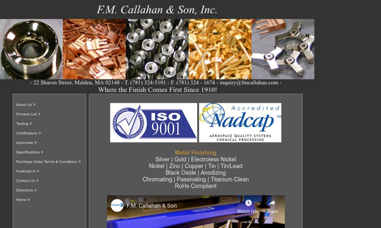 F.M. Callahan & Son, Inc.