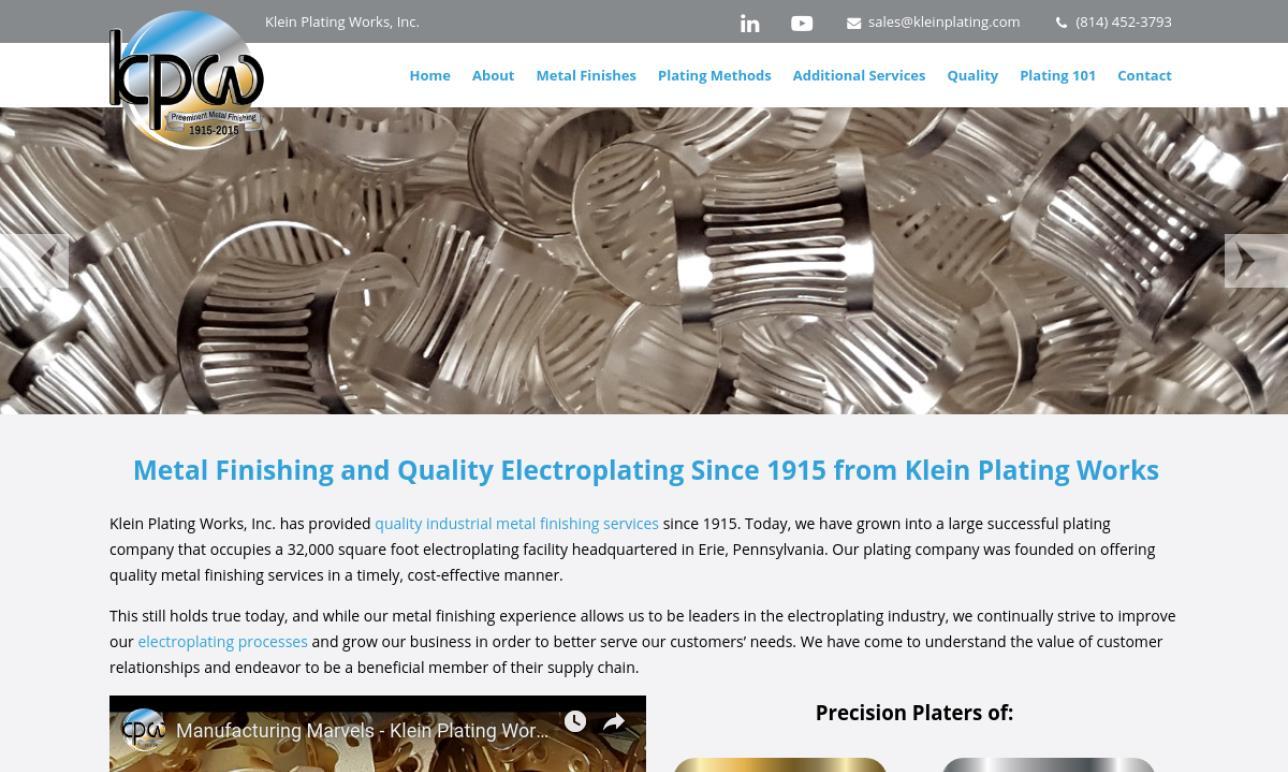 Klein Plating Works, Inc.