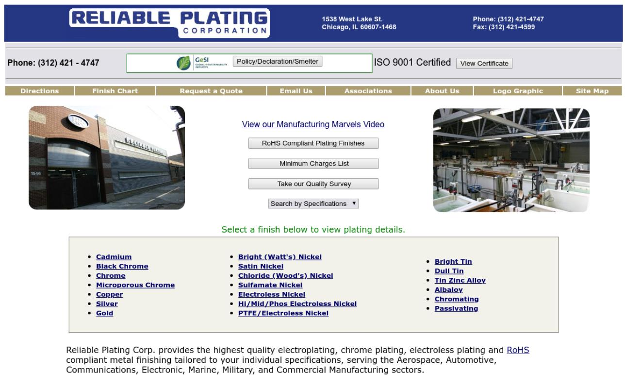 Reliable Plating Corporation