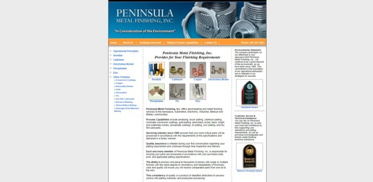 Peninsula Metal Finishing, Inc.