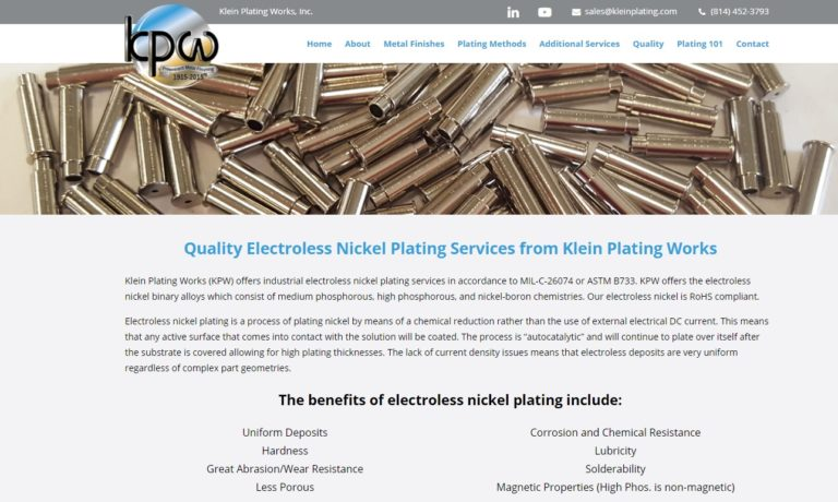 Klein Plating Works, Inc.